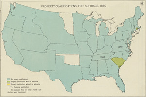 Property qualifications for suffrage, 1860