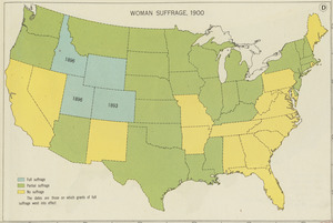 Woman suffrage, 1900