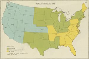Woman suffrage, 1915