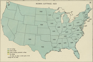 Woman suffrage, 1920