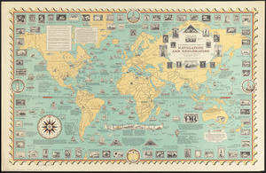 A pictorial stamp map of navigation and exploration