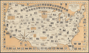 The pictorial map, United States stamps