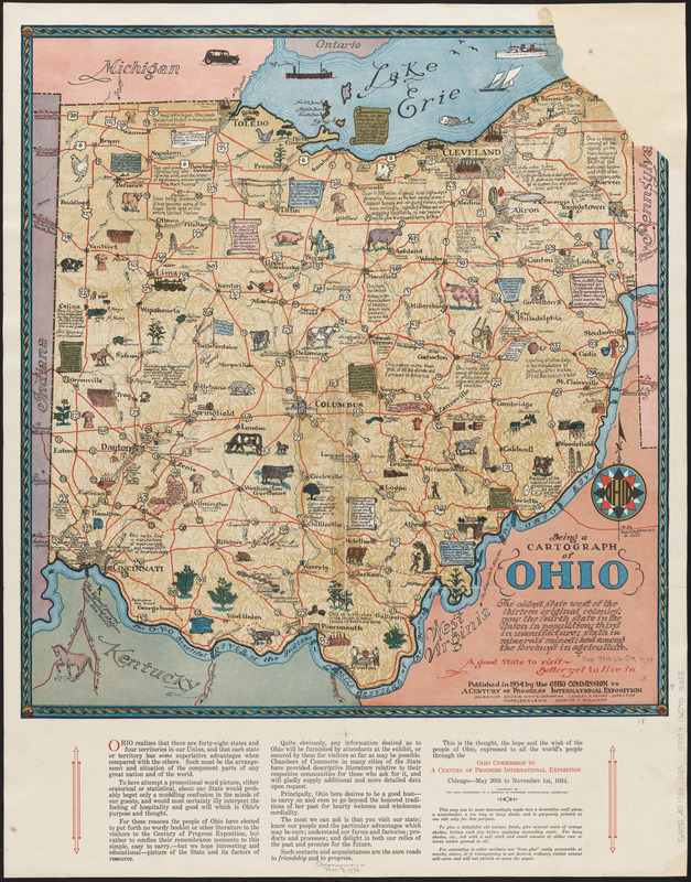 Being a cartograph of Ohio