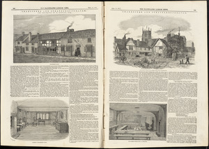 Illustrations of Shakespeare's house and school