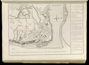 A plan of Quebec the capital of New France or Canada