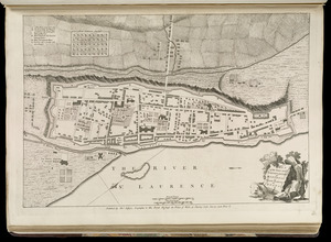 Plan of the town and fortifications of Montreal or Ville Marie in Canada