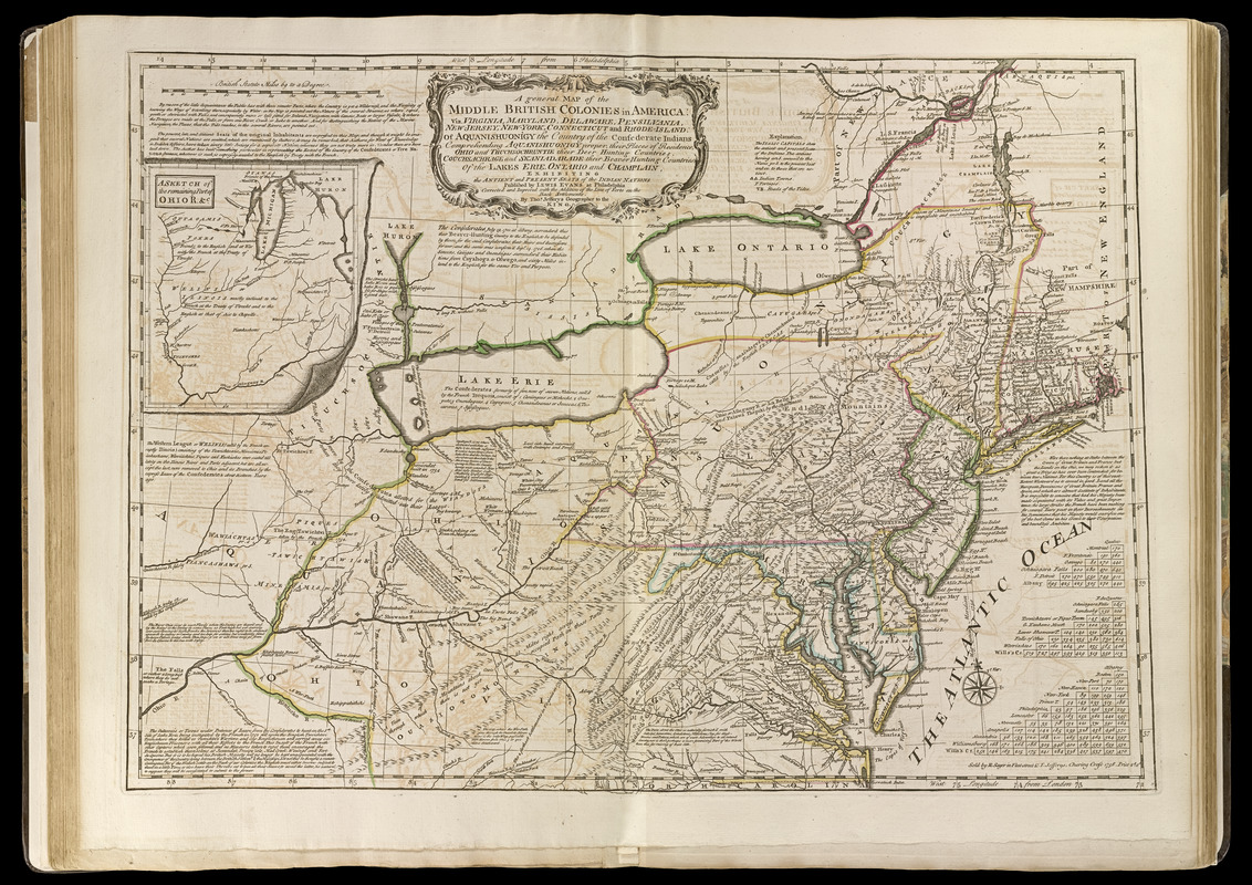 Map Of America Virginia.A General Map Of The Middle British Colonies In America Norman B