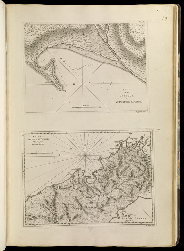 Plan of the harbour of San Fernando de Omoa ; A map of the Isthmus ...