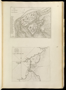 Plan of the city and suburbs of Carthagena ; Plan of the bay & town of Sta. Martha, on the coast of Tierra Firma