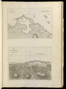 Plan of Puerto Cavello, on the coast of the Caracas ; Plan of Puerto de La Guaira on the coast of the Caracas