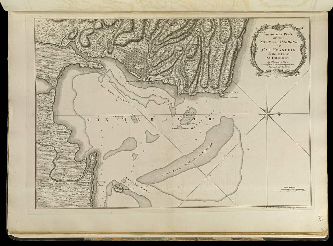 An authentic plan of the town and harbour of Cap-François in the isle of St. Domingo