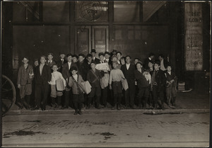 Boston Globe Newsboys on Newspaper Row