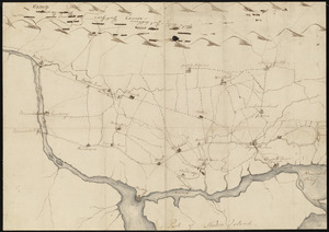 Map of American camp in New Jersey and surrounding countryside