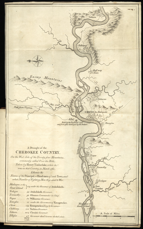 A draught of the Cherokee Country