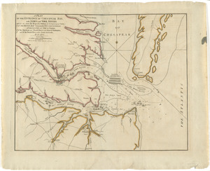 A plan of the entrance of Chesapeak Bay, with James and York rivers