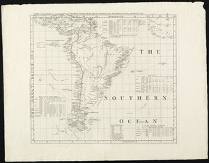 Chart of South America, comprehending the West Indies, with the adjacent islands, in the Southern Ocean, and South Sea