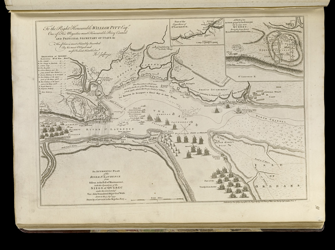 An authentic plan of the River St. Laurence from Sillery to the fall of Montmorenci, with the operations of the siege of Quebec