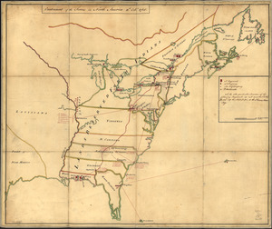 Cantonment of the forces in North America 11th. Octr. 1765