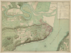 Plan of the city and environs of Quebec, with its siege and blockade by the Americans