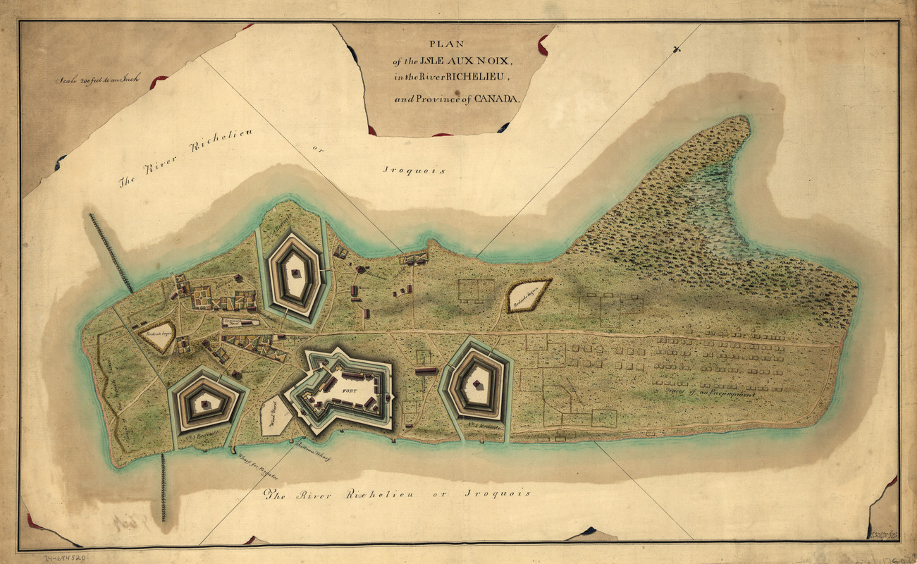 Plan of the Isle aux Noix, in the River Richelieu, and Province of Canada