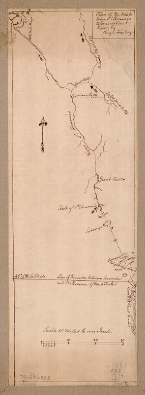 Plan of the route from St. Francis to Connecticut River