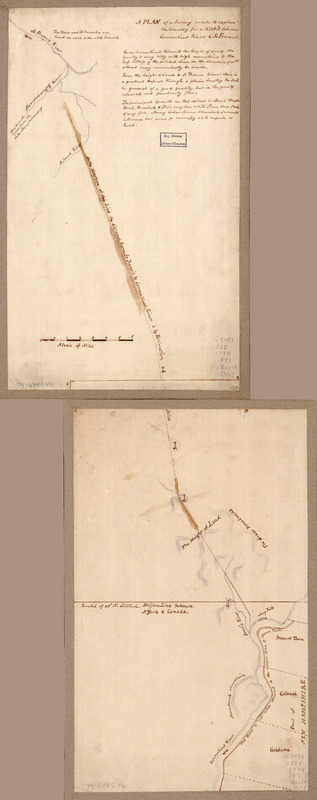 A plan of a survey made to explore the country for a road between Connecticut River & St. Francis