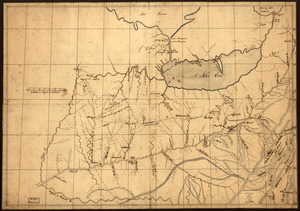 A trader's map of the Ohio country before 1753