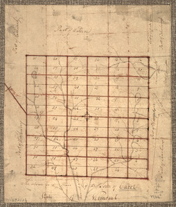 The Above is a plan of the town of Cabot, State of Vermont
