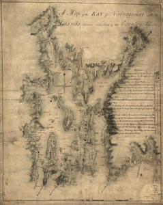 A map of the bay of Narraganset with the islands therein and part of the country adjacent