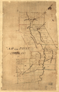 Map of the patent of Oriskany