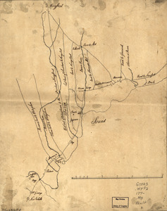 Map of the roads from New Rochelle to Kingstreet, Westchester County