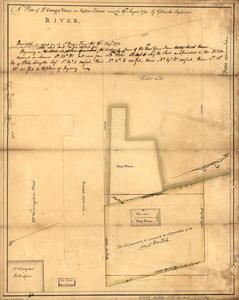 A plan of St. Georges Ferry on Nassau-Island made the 10th August 1774