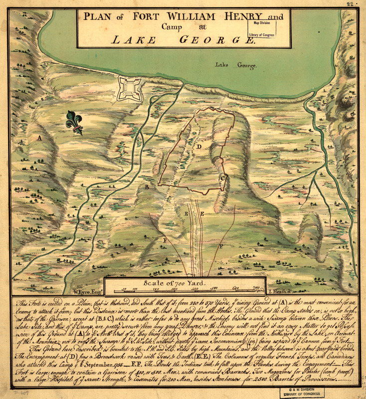 Plan of Fort William Henry and camp at Lake George