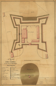 A plan of Fort George at the city of New-York