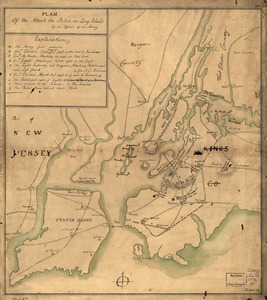 Plan of the attack the rebels on Long Island, by an officer of the Army