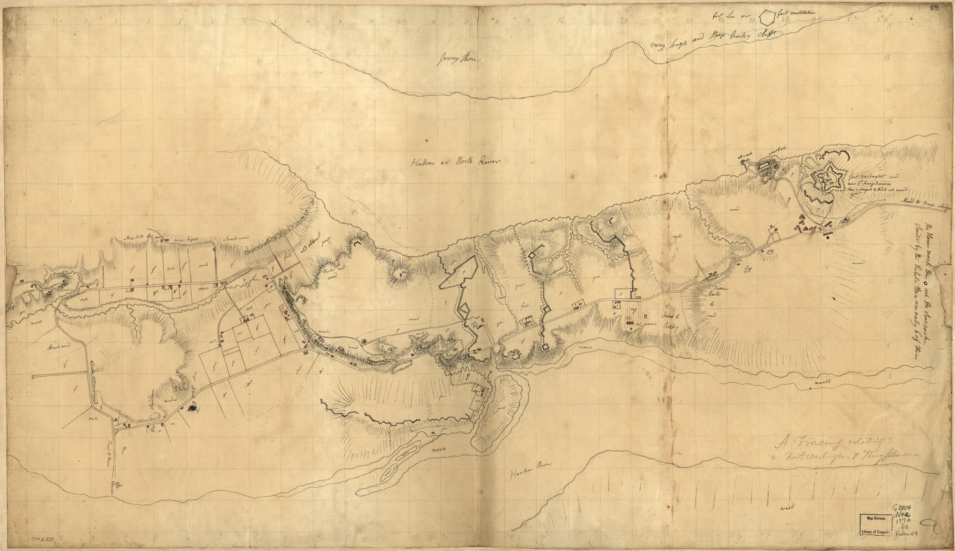 A tracing relating to Fort Washington or Knyphausen