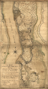 A map of part of New-York Island showing a plan of Fort Washington