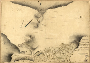 A Plan of the works on Spikendevil Hill with the ground in front, protracted from a scale of 200 feet to an inch