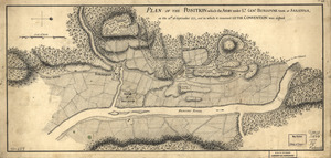 Plan of the position which the army under Lt. Genl. Burgoyne took at Saratoga