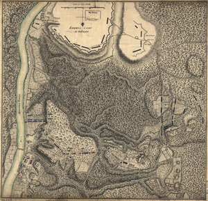 Plan of the encampment and position of the army under His Excelly. Lt. General Burgoyne