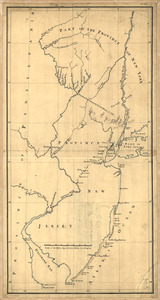 New York & New Jersey commissioners line from 41⁰ on Hudson's River taken in 1769