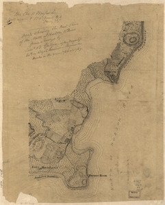 Map showing the west shore of the North or Hudson River