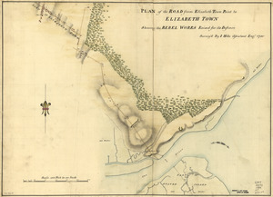 Plan of the road from Elizabeth Town Point to Elizabeth Town
