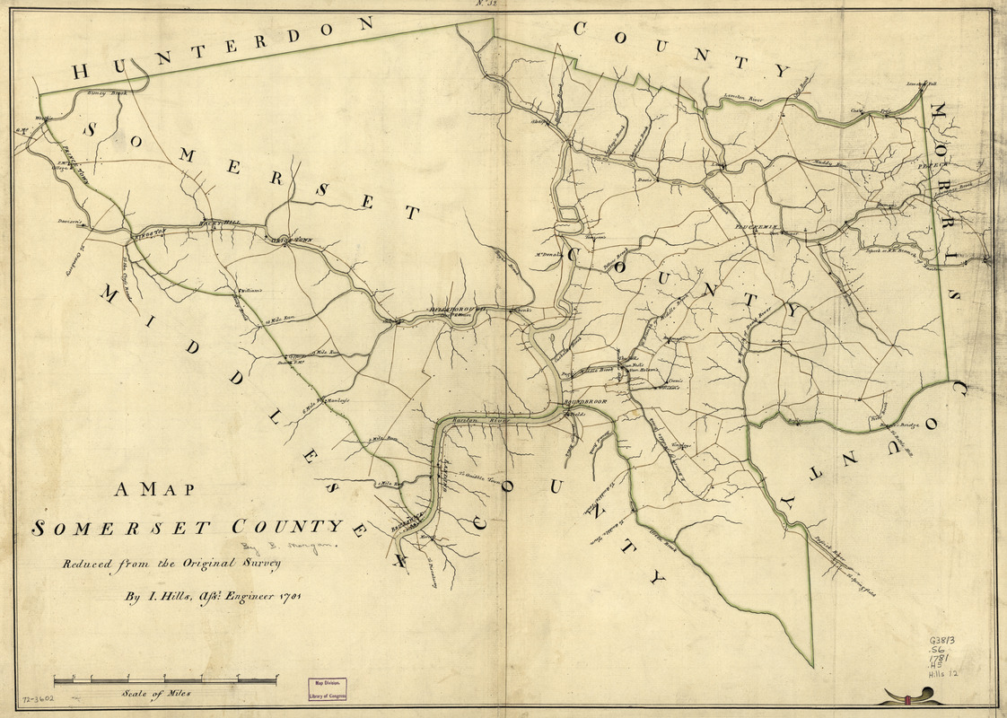 A map, Somerset County