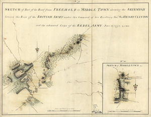 Sketch of part of the road from Freehold to Middle Town