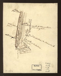Map showing roads to Morristown