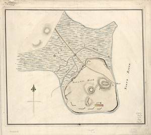 Plan of Paulus's Hook and fortifications