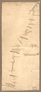 Map of a route through south west Pennsylvania from Fort Loudon, Franklin Co. to Fort Pitt, Pittsburgh