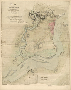 Plan of the city of Philadelphia and its environs shewing its defences during the years 1777 & 1778