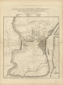 A plan of the city and environs of Philadelphia
